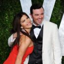 Seth MacFarlane & Lauren Sanchez Attend the 2012 Vanity Fair Oscars After Party, 2/26/12 - 395 x 594