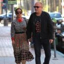 Salma Hayek and Francois-Henri Pinault are spotted out at a doctors office in Beverly Hills, California on August 29, 2016 - 454 x 595