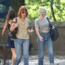 Scarlett Johansson In Jeans Out and About In Ny