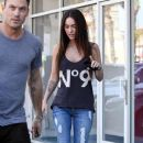 Megan Fox And Brian Austin Green Picking Up His Son From Karate Class