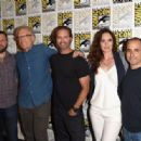 """Actress Sarah Wayne Callies attends the """"Colony"""" press room during Comic-Con International 2015 at the Hilton Bayfront on July 10, 2015 in San Diego, California"""