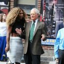 Serena Williams Arriving At Late Show With David Letterman In New York