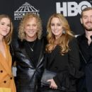 David Bryan of Bon Jovi, and family attend the 33rd Annual Rock & Roll Hall of Fame Induction Ceremony at Public Auditorium on April 14, 2018 in Cleveland, Ohio - 454 x 302
