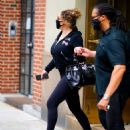 Mariah Carey – Wearing body hugging tights and heels in New York - 454 x 577
