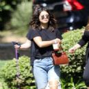Selena Gomez and a group of friends out in Los Angeles