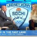 Lindsey Vonn in New York for an appearance on Today with Matt Lauer, - 454 x 280
