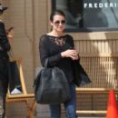 Lea Michele: made a stop at Barneys New York in Los Angeles
