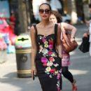 Myleene Klass in Floral Dress out in London - 454 x 724