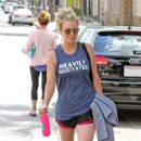 Kaley Cuoco Leaving Workout in Studio City - 454 x 695