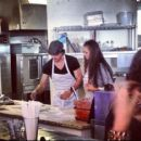 Ian Somehalder and Nina Dobrev were spotted making pizza's at McClain's Pizzeria in Mandeville, LA, November 25