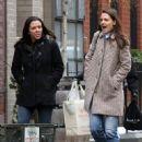 Katie Holmes walks with her friend around Manhattan, New York's West Village neighborhood on January 10, 2017 - 452 x 600