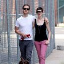 Anne Hathaway & Adam Shulman's Dog-Walking Date
