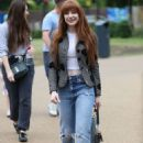 Nicola Roberts – Arrives at the Peter Pan launch in London - 454 x 651