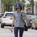 Lucy Hale – Arriving at the gym for a boxing class in Los Angeles