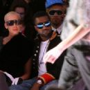 Amber Rose and Kanye West with guests attend Mercedes-Benz Fall 2009 Fashion Week at Bryant Park in New York City - February 18, 2009 - 454 x 332
