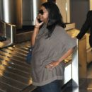 Octavia Spencer arriving on a flight at LAX airport in Los Angeles, California on January 26, 2015 - 452 x 600
