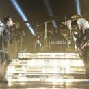 Adam Lambert performing live with legendary band Queen at the Apollo Hammersmith London, England (July 11)