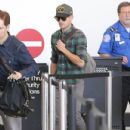 Zac Efron: touches down in Los Angeles