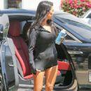Kourtney Kardashian in Shorts Arrives at a Local Studio in LA - 454 x 681