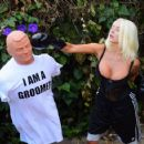 Courtney Stodden – Takes shots at her ex Doug Hutchinson punching shirt in Beverly Hills - 454 x 358