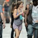 Leighton Meester on the set of 'Gossip Girl' in NYC (August 21)