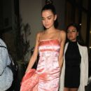 Maia Mitchell – In a short PVC Material dress leaving Catch in West Hollywood - 454 x 880