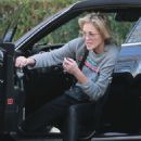 Sharon Stone in Leather Pants – Out in Los Angeles - 454 x 680