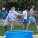 Sophie Turner – At a kids pool with friends in Cabo San Lucas in Mexico