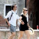Kate Winslet and her husband Ned Rocknroll out in Venice - 454 x 612