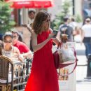Olivia Palermo in Red Long Dress Out in New York - 454 x 635