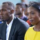 On Thursday during a town hall meeting in Kingston, Jamaica, Obama brought the audience to laughter when he gave a special mention to Bolt (left) and triple-world champion Shelly-Ann Fraser-Pryce (right)