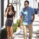 Couple Cara Santana and Jesse Metcalfe are spotted out and about in West Hollywood, California on August 5, 2015