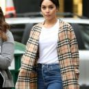 Vanessa Hudgens in a Burberry Trench Coat out in New York City - 454 x 1003