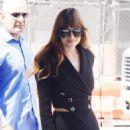 Dakota Johnson – Arrives to a radio station in New York