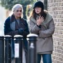 Keira Knightley with her mum out in London