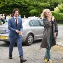 Malin Akerman – Arriving at Kit Harington and Rose Leslie wedding in Scotland - 454 x 517
