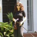 Selena Gomez – Visit a friend's house in Los Angeles
