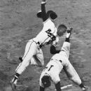 Hank & Moose Skowron of the Yankees in 1958 World Series