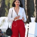 Stephanie Rice in Red Pants out in Gold Coast - 454 x 779