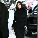 Kim Kardashian in Black Dress – Leaving for the New York Time Dealbook Conference in New York