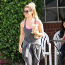 Ashley Tisdale In Tight Leaggings Out In La
