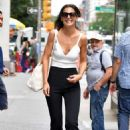 Katie Holmes in White Tank Top – Out in NYC