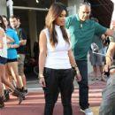 Kim Kardashian: visiting a Vespa scooter store in Miami