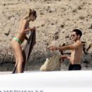 Dylan Penn in Bikini on holiday in Formentera