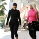 Blac Chyna and Kim Kardashian at Barry's Bootcamp in Los Angeles - March 5, 2014