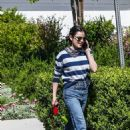Lucy Hale – Looks casual as she out for a solo dog walk