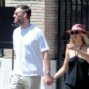 Jennifer Lawrence with Cooke Maroney out in Rome
