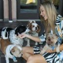 Joanna Krupa With Her Dogs out in Los Angeles - 454 x 354