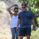 Lea Michele – Out for a hike with her husband in Santa Monica