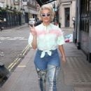 Bebe Rexha in Jeans – Out in London